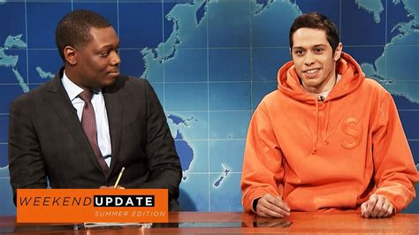 pete davidson update snl weekend update pete davidson on colin kaepernick snl