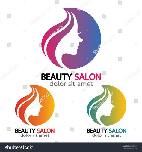 beauty layout vector beauty salon sign branding identity corporate stock vector