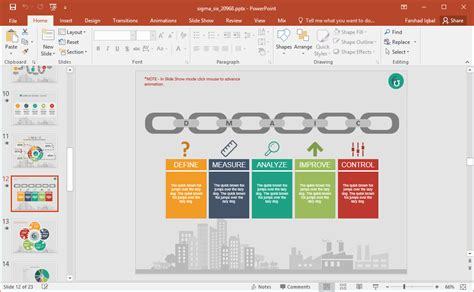Animated Six Sigma Powerpoint Template Six Sigma Ppt Free