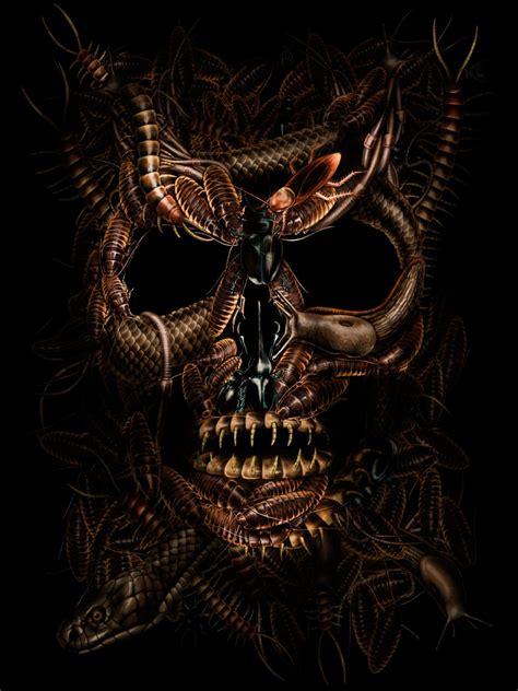 imagenes de calaveras mortales 47 obras de las calaveras de miedo asombrosas y mortales
