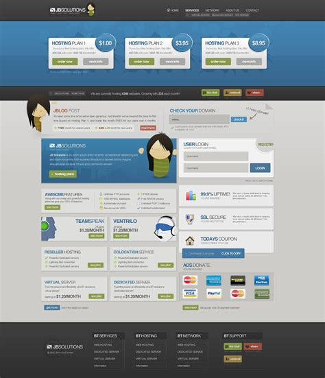 nice web layout design professional web hosting layout by jonasingebretsen on