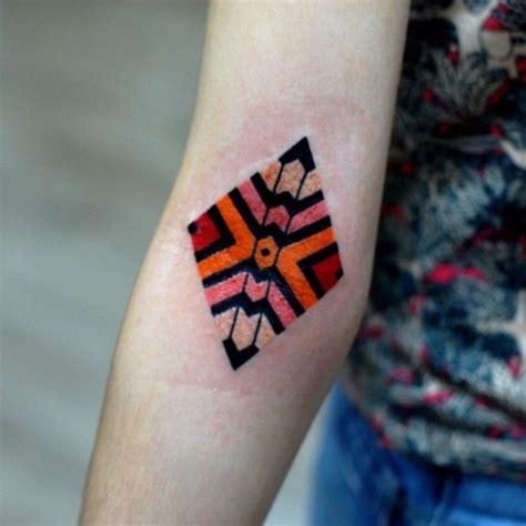 rhombus pattern tattoo 50 nerdy geometric pattern tattoo designs