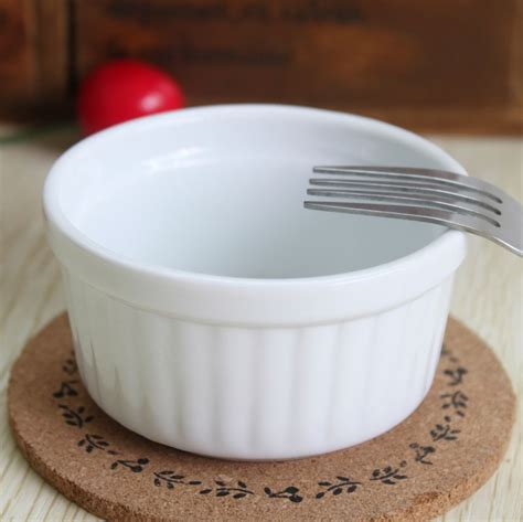 10 ozwhite ceramic baking bowls set of 4 white ceramic ramekin baking bowl pudding bowl