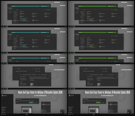 numix theme for windows 10 numix dark cyan and green theme for windows 10 by