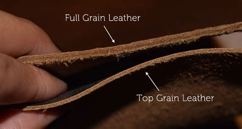 Top Grain Leather identify leather types leather cuts chamberlains