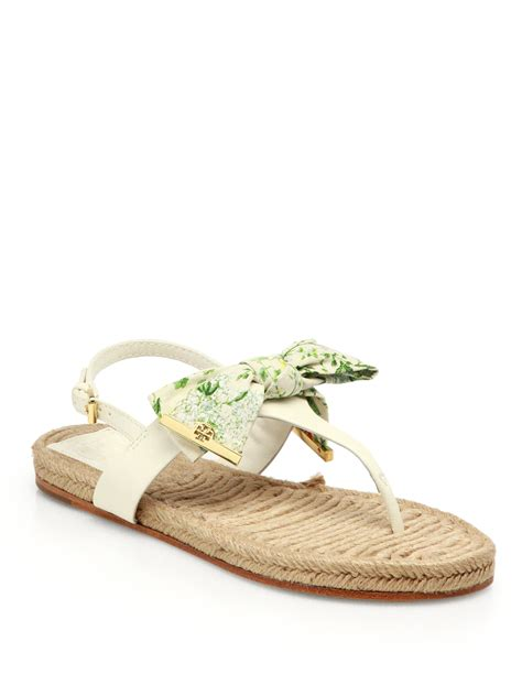 white burch sandals lyst burch leather esapdrille sandals