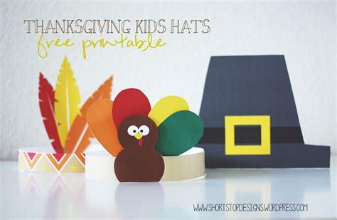 printable turkey hats thanksgiving printable hats pic