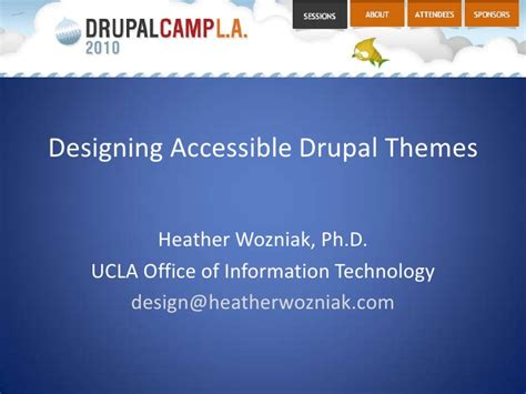 drupal theme not loading designing accessible drupal themes