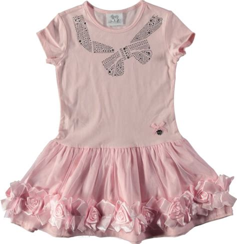 jurken le chic bol le chic meisjes jurk powder pink maat 152
