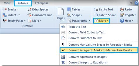 html format line break how to replace hard returns with soft returns in word