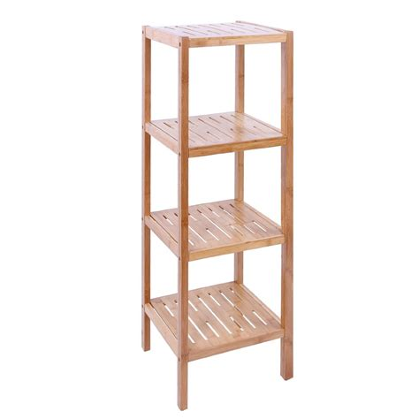 Shelving Unit For Bathroom 4 Tier Glass Bathroom Shelving Unit Bathroom Decoration Plan