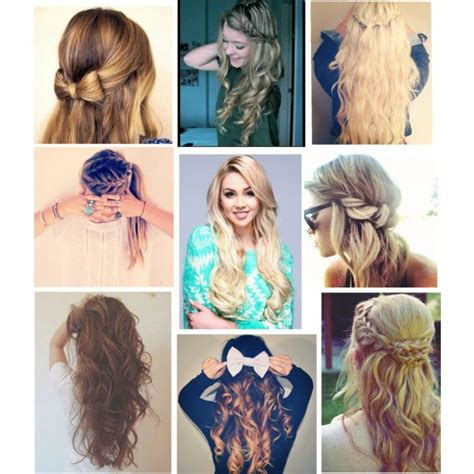 cute hairstyles polyvore 23 best images about back to school hairstyles on pinterest