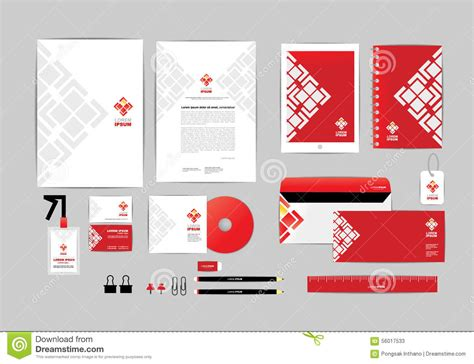 id card design red red and white with triangle corporate identity template