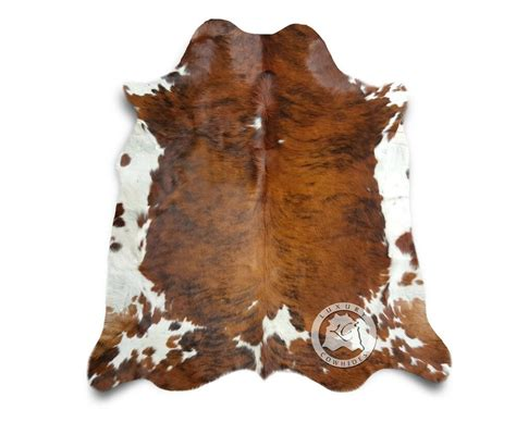 new cowhide rug leather brindle tricolor 6 x8