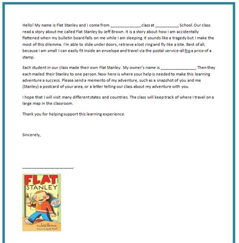 flat stanley letter template 37 flat stanley templates letter exles free