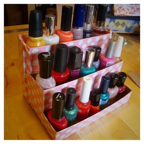 diy nail rack shoe box 1000 images about repurposed birchboxes on