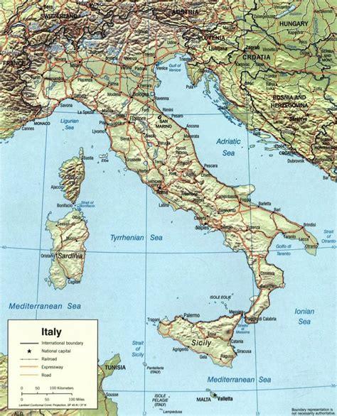 d italai carte de l italie topographie