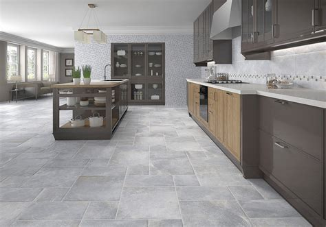 gray floor tiles kitchen tile design ideas
