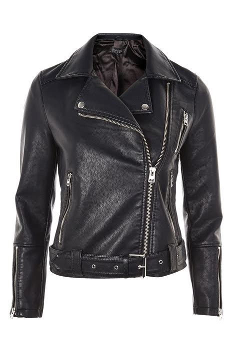 Faux Leather Jacket faux leather biker jacket topshop usa