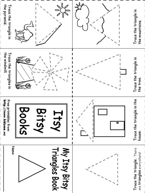 triangle printable worksheets for preschoolers triangle itsy bitsy book pre school ideas pinterest