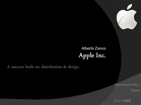 Distribution Policy Apple Apple Inc Powerpoint