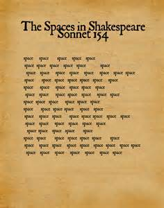 serif of nottingblog the spaces in shakespeare s sonnet 154