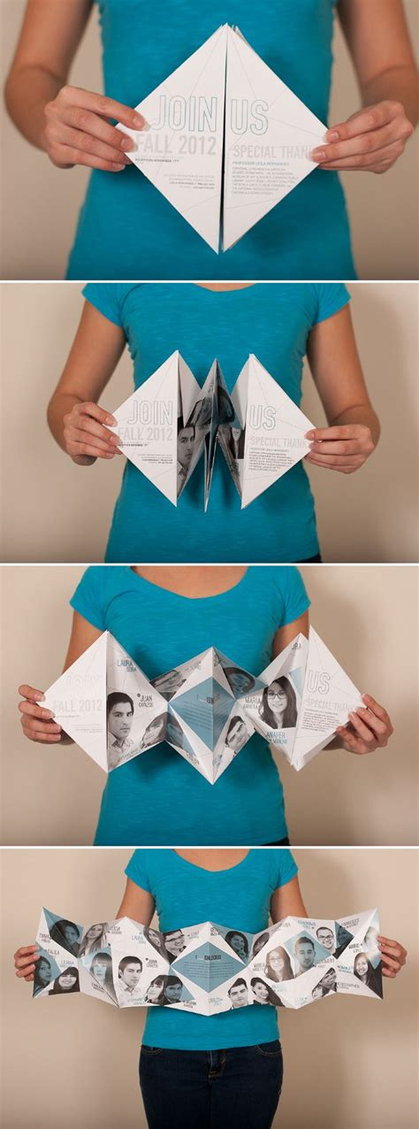 Cool Ways To Fold A Paper - 17 best images about leave behinds self promos on