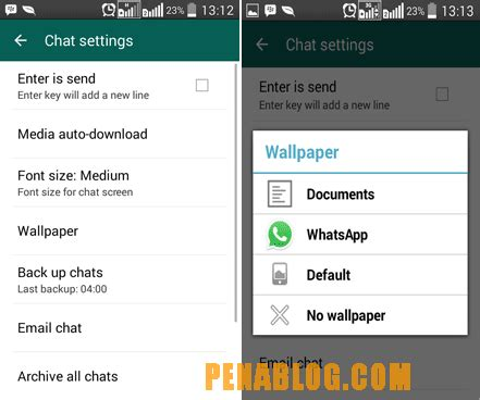cara membuat wallpaper chat di line cara merubah wallpaper chat whatsapp android