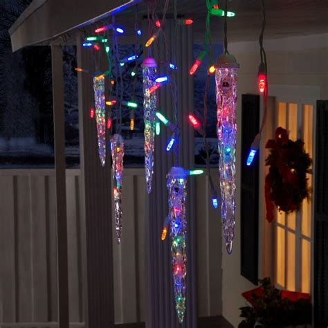 gemmy christmas lightshow shooting star multi led 5 icicle