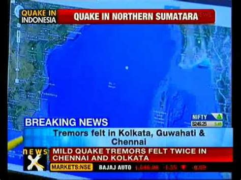 earthquake just now earthquake off northern sumatra tremors felt in chennai