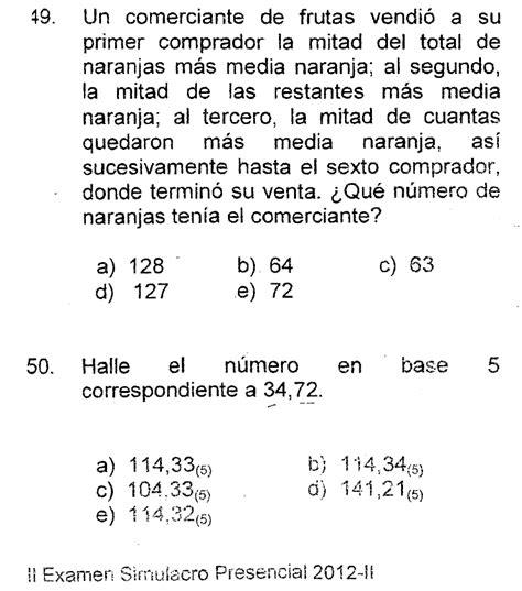 preguntas de cultura general para universidad preguntas de admision solucionadas noviembre 2012