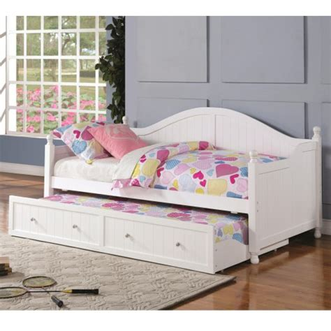 White Wooden Daybed Coaster Daybeds By Coaster White Wooden Daybed With Trundle Coaster Furniture