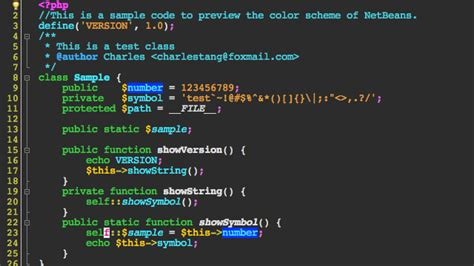 java themes editor netbeans themes color schemes of the netbeans ide