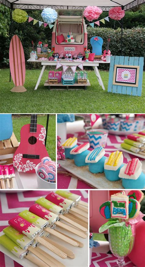 themes for tween girl birthday parties teen beach movie party theme