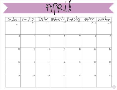 printable calendar 2016 big april 2016 calendar free printable live craft eat