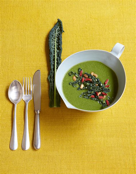 cuisiner les prot駟nes de soja velout 233 de kale 224 la cr 232 me de soja pour 4 personnes