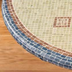 Clean Patio Cushions Fiorenza Mosaic Elasticized Table Cover Miles Kimball