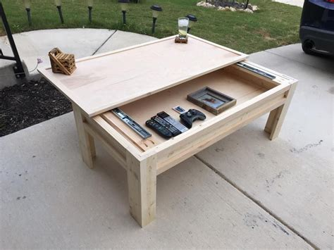 coffee table building plans made a coffee table with a sliding top top albums
