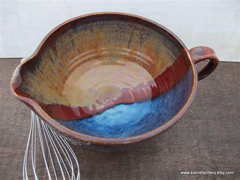 Handmade Bowls Pottery - handmade pottery mixing bowl ceramic batter bowl