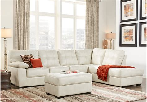 cream living room furniture bexley square cream 3 pc sectional living room living