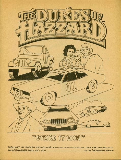Click Any For Bigger And Play Along At Home Dukes Of Hazzard Coloring Pages