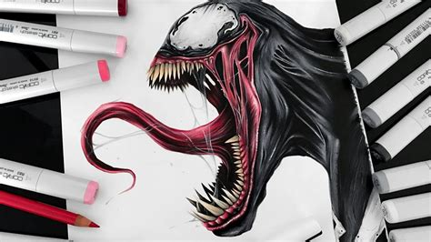 Drawing Venom by Cool Venom Drawings Www Pixshark Images Galleries