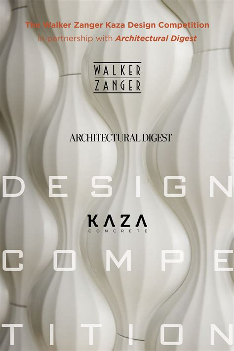 design competition judging walker zanger and architectural digest announce judging