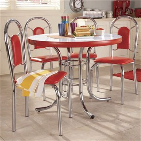 retro dining room sets 5 piece classic dining set from seventh avenue di63157