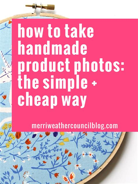Handmade Products Website - simple product photos for etsy the merriweather council