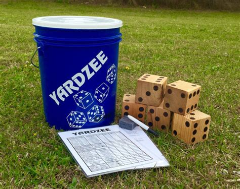 Backyard Yahtzee Yardzee Lawn Dice Yard Yahtzee Yard Yatzee By Jacksandjills