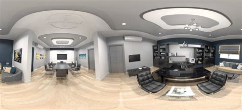 3dmax office interior design 360 degree
