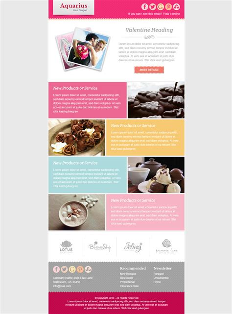 Valentine Email Marketing Newsletter Template By Pophonic Themeforest Email Marketing Templates