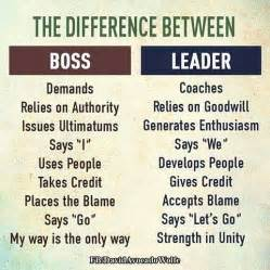 the difference between a boss and leader pictures photos