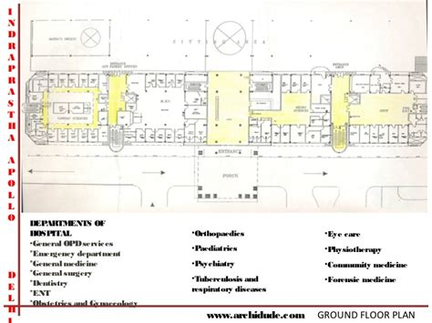 Functional Floor Plans by Apollo Hospital Case Study